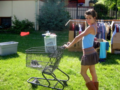 "shopping at my own yardsale. ""these deals are so good, i'm having second thoughts."""