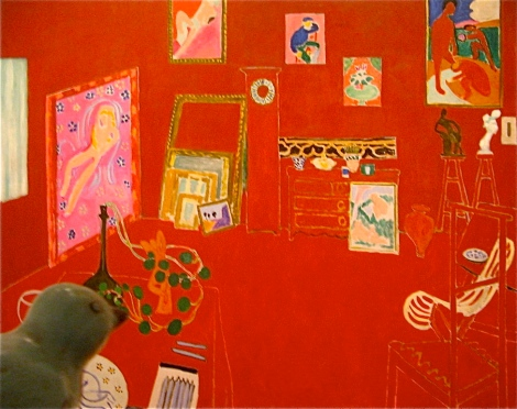 Let viewing Matisse's The Red Studio