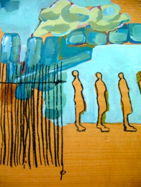 acrylic on woodblock