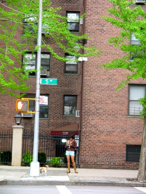 outside the Harlem apartment
