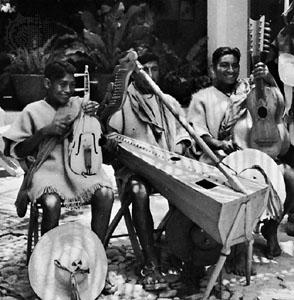 Tzotzil musicians by Donald Cordry